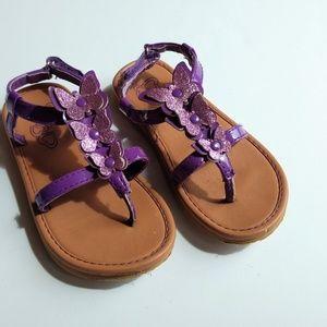 Purple Butterfly Sandals